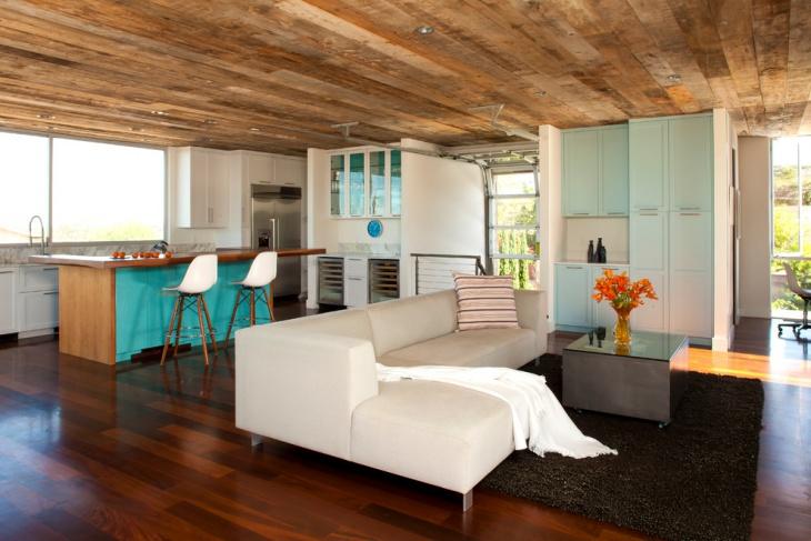 Basement Wood Ceiling Idea