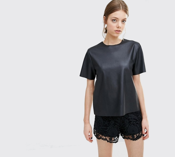Asos Black Leather Top