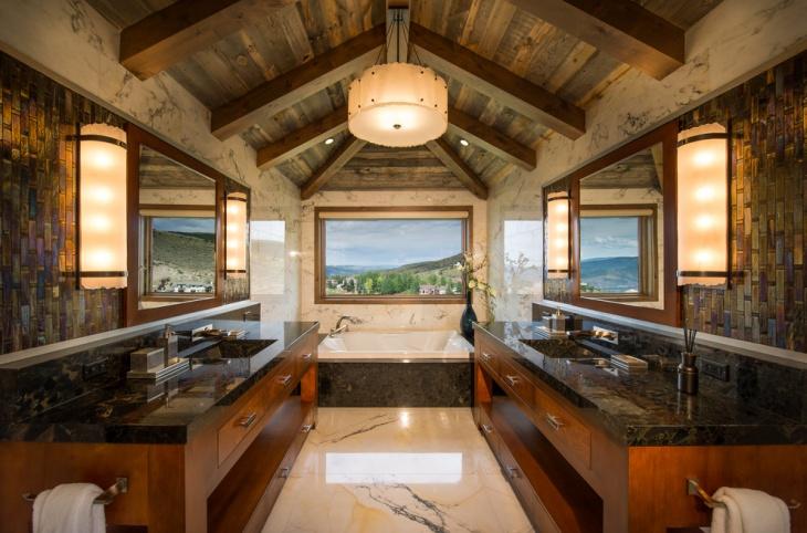 Sloped Ceiling Bathroom Design