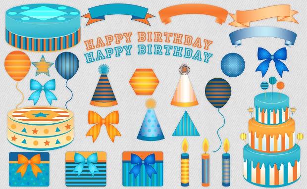 Striped Birthday Cake Clipart