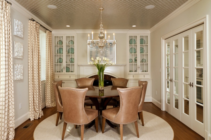 dining room textured ceiling design