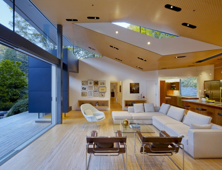 Modern Textured Ceiling Design
