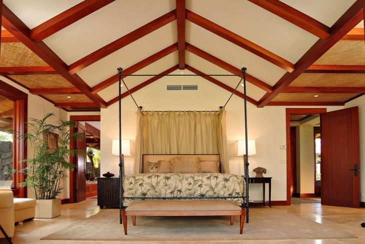 Bedroom Vaulted Ceiling Design