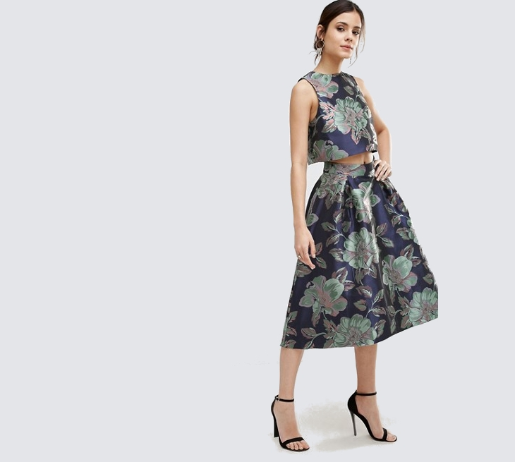 Floral Top with Skirt
