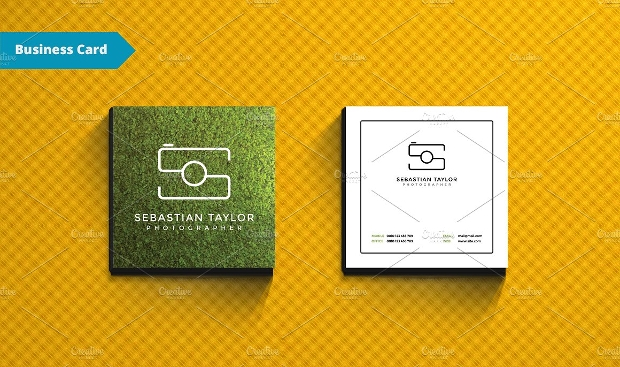 15 square business cards printable psd eps design trends small square business card reheart Image collections