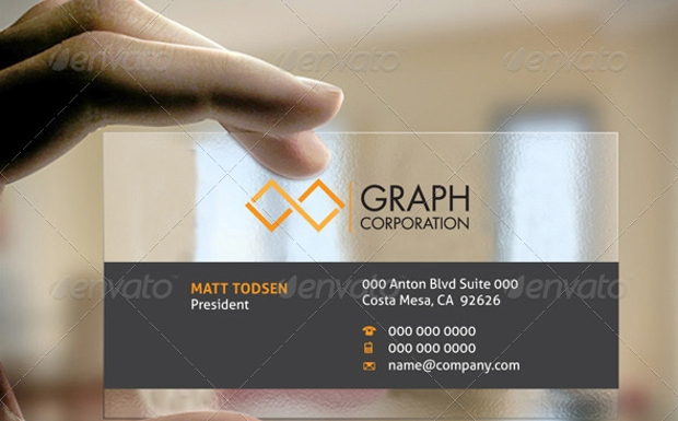 Square Transparent Business Card