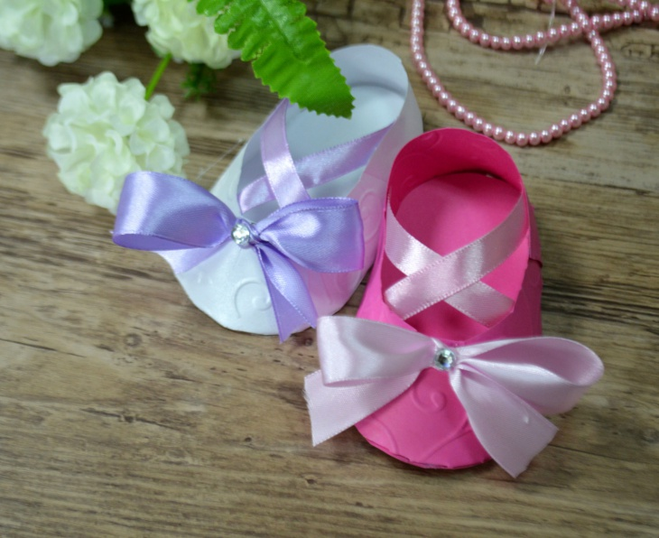 paper ballet baby shoes idea