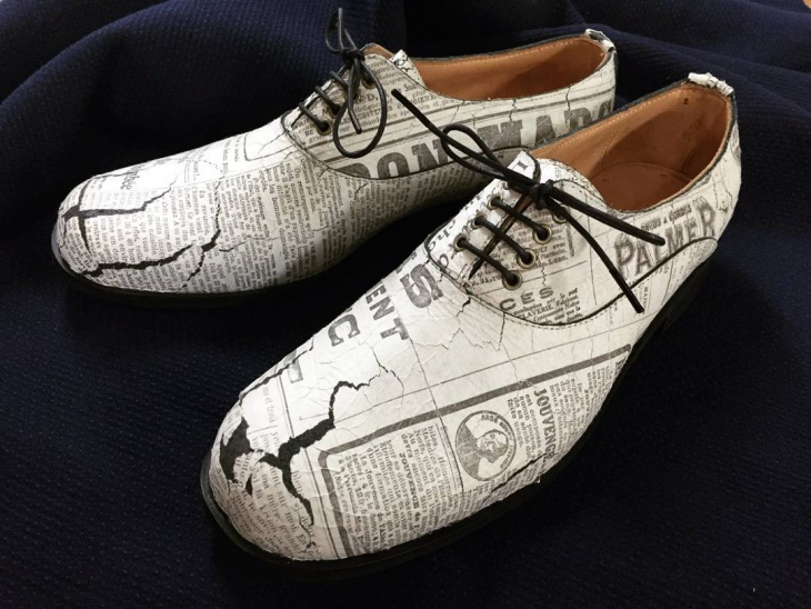 News Paper Shoes