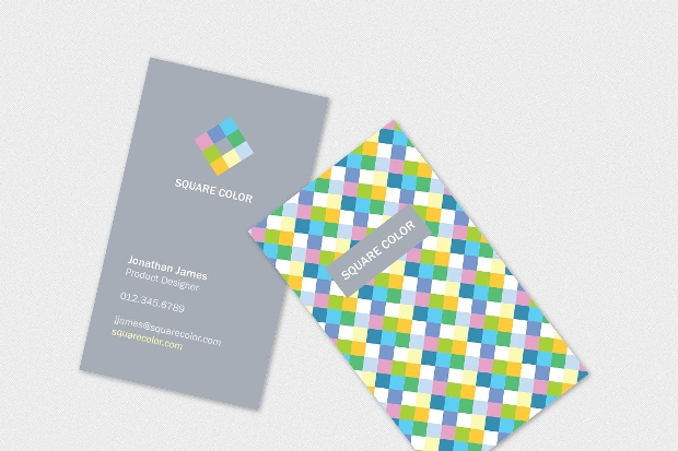 Creative Square Business Card