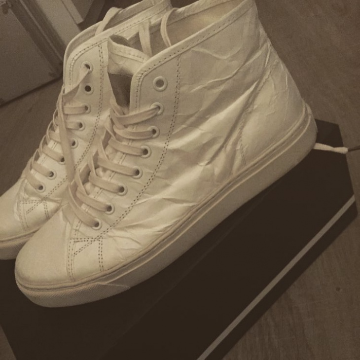 White Paper Sneakers