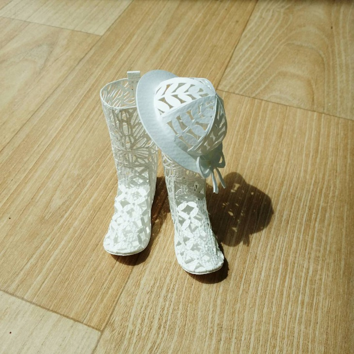 3D Paper Art Shoes