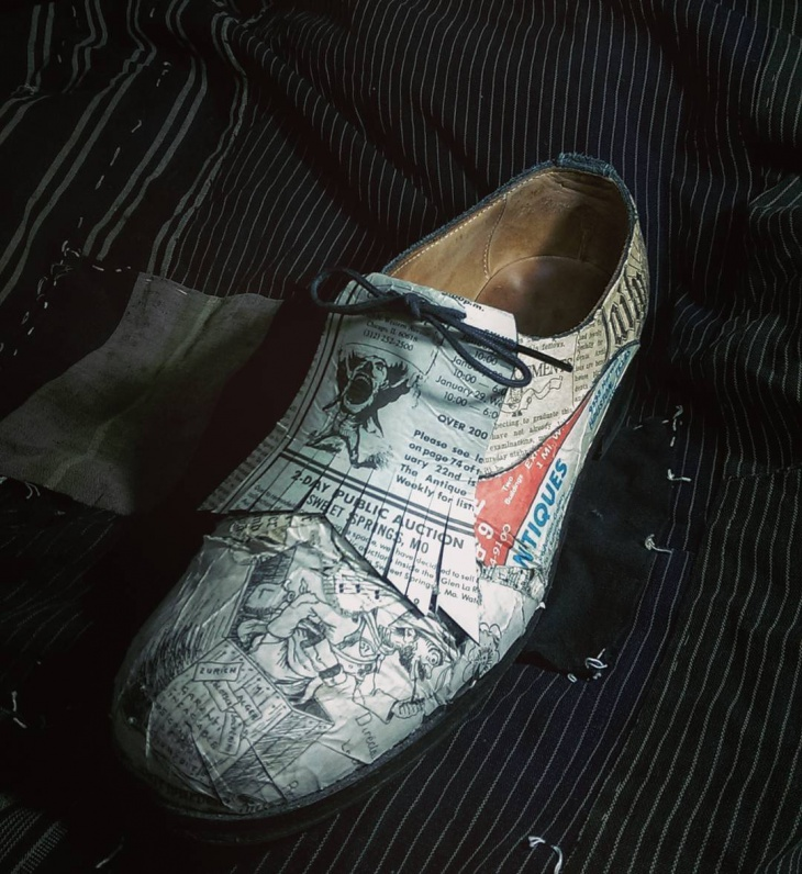 vintage paper shoes idea