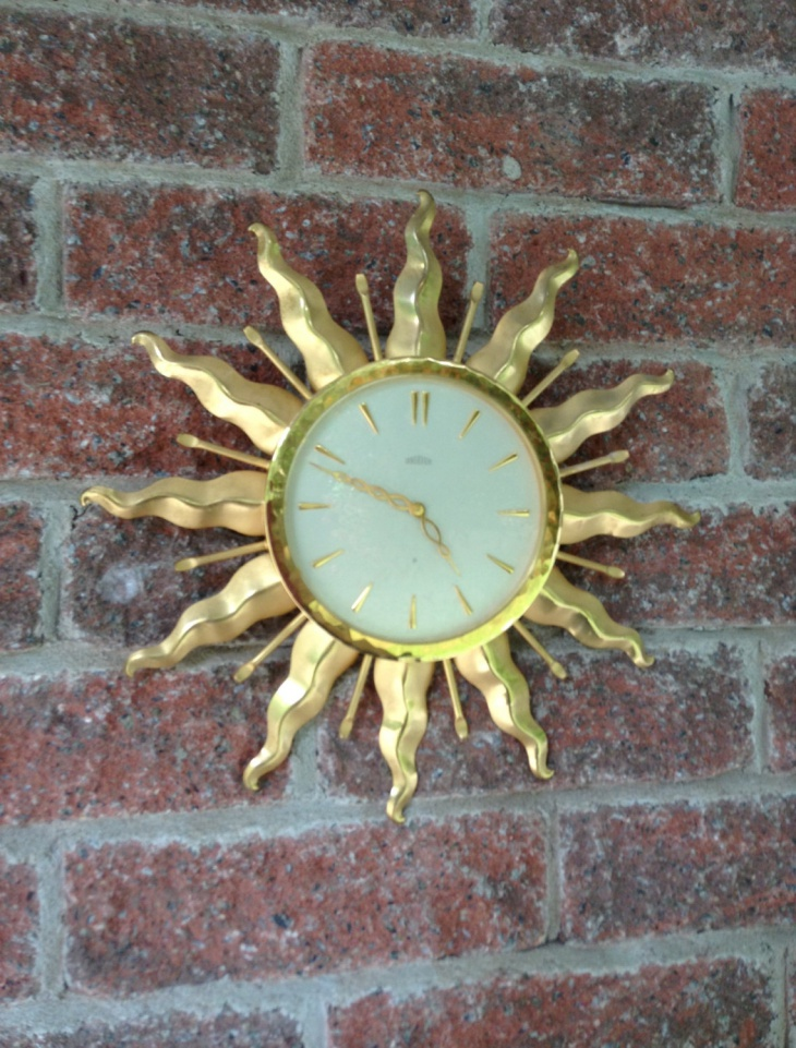 antique sunburst wall clock
