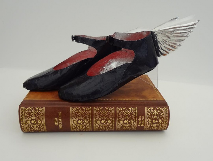 Winged Paper Shoes