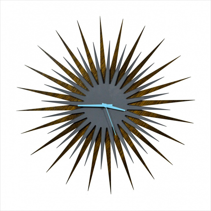 cool sunburst wall clock design
