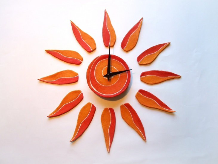 attractive sunburst wall clock