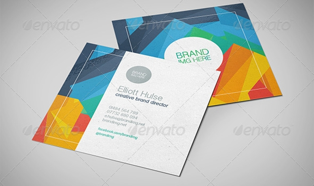 Poly Square Business Card