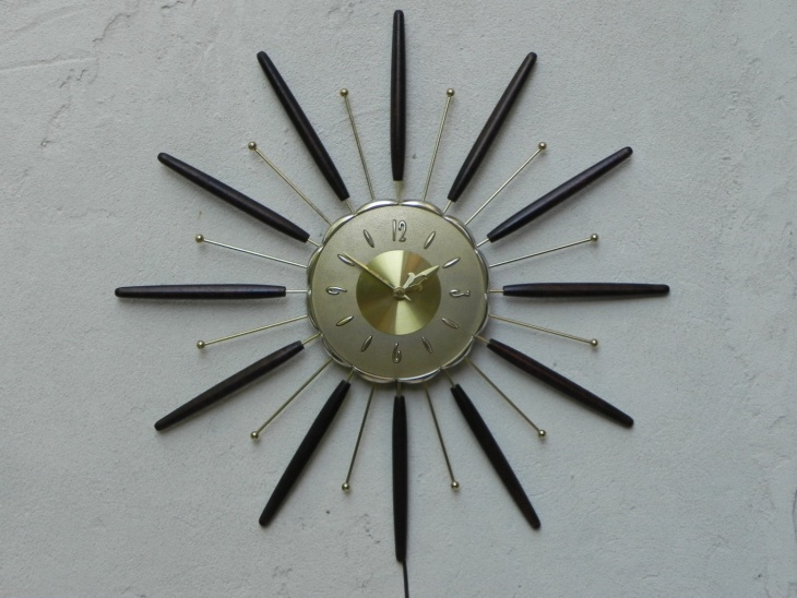 traditional sunburst wall clock