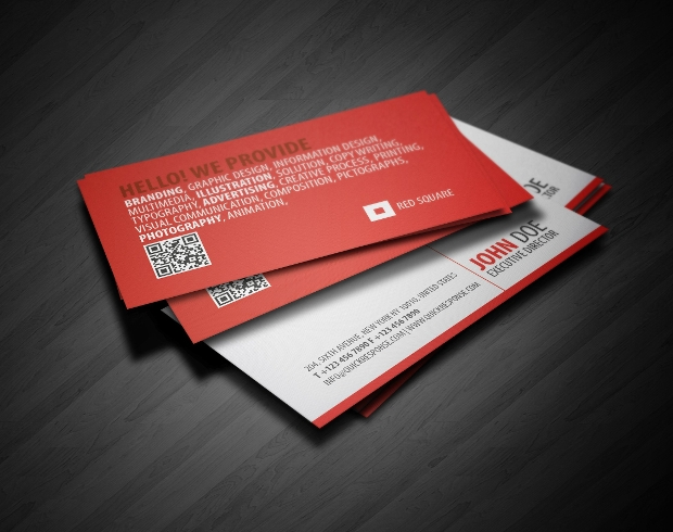 High Quality Square Business Card Design