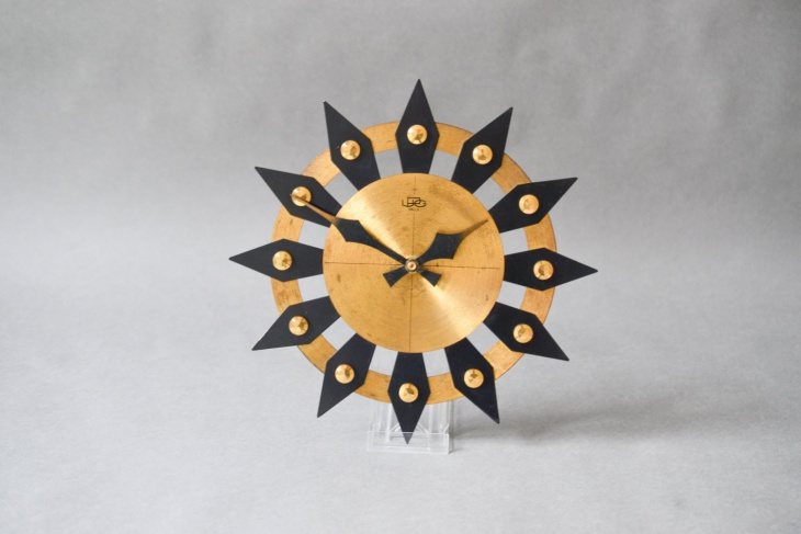 vintage sunburst wall clock