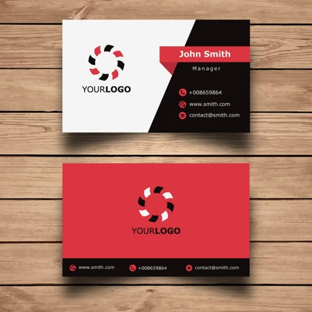 Red Square Business Card