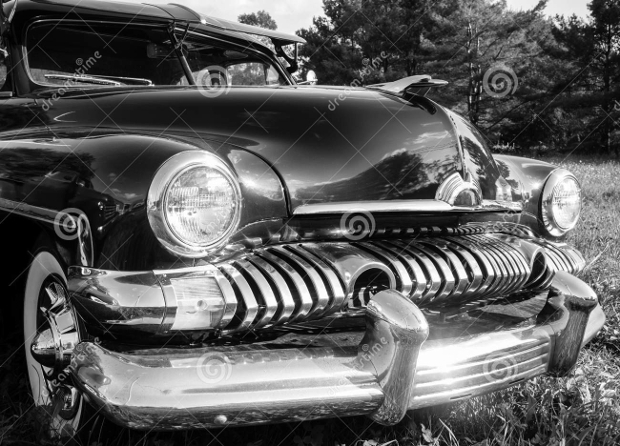Black and White Vintage Car Photography