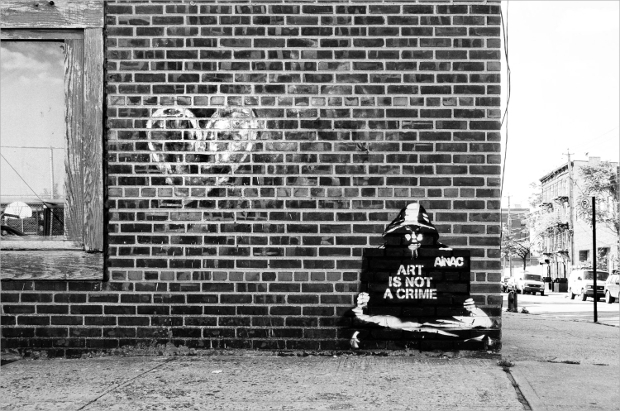 Black and White Street Art Photography