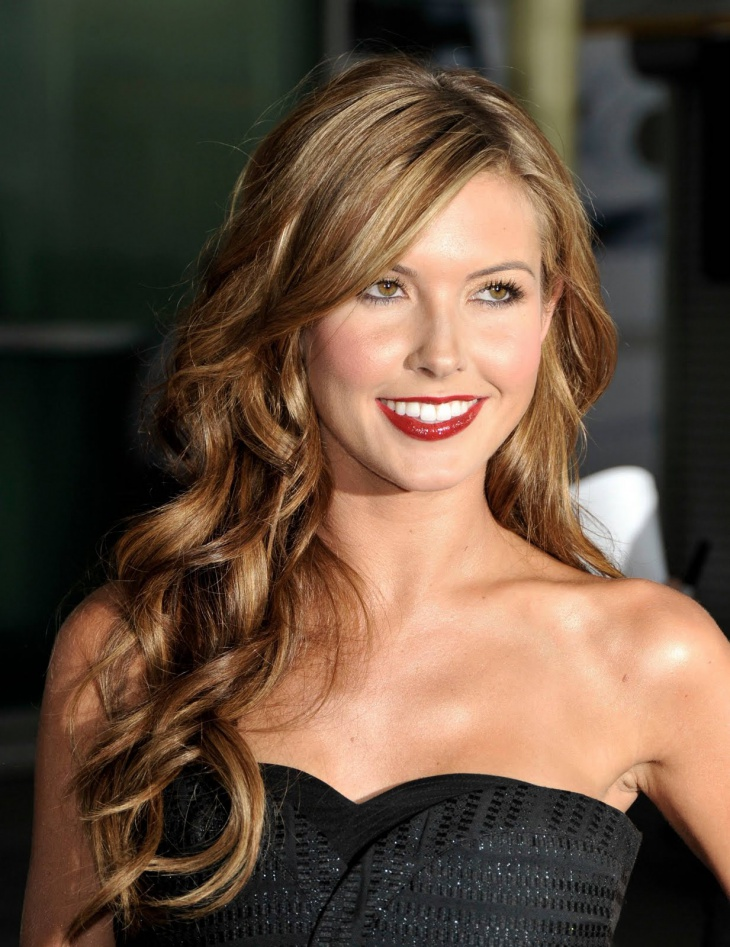 Audrina Patridge Side Curly Prom Hairstyle