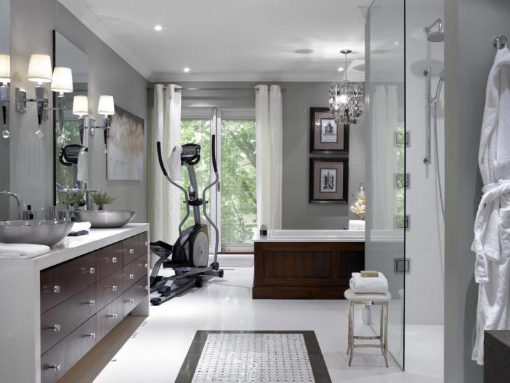 home gym bathroom design