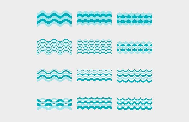 blue waves vector pattern