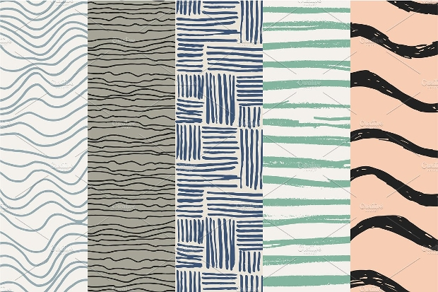 stripes and waves pattern