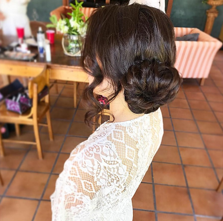 Prom Low Bun Hairstyle