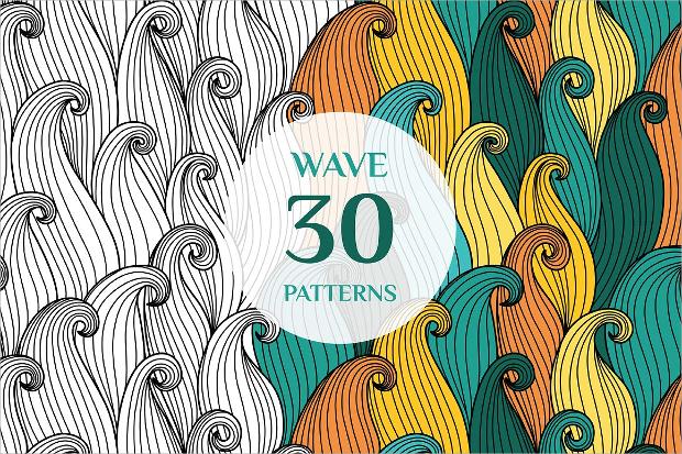 bright waves pattern design