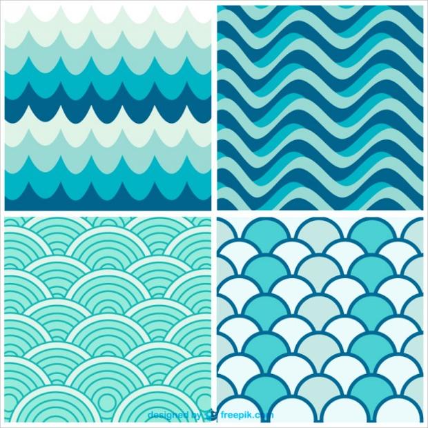 water waves retro pattern