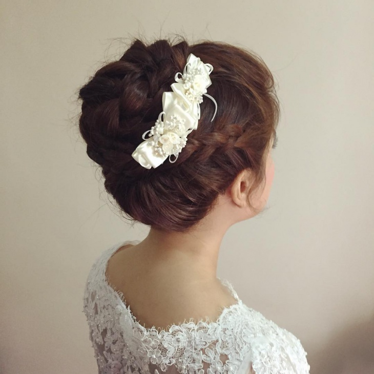 Prom Braided Bun Hairstyle