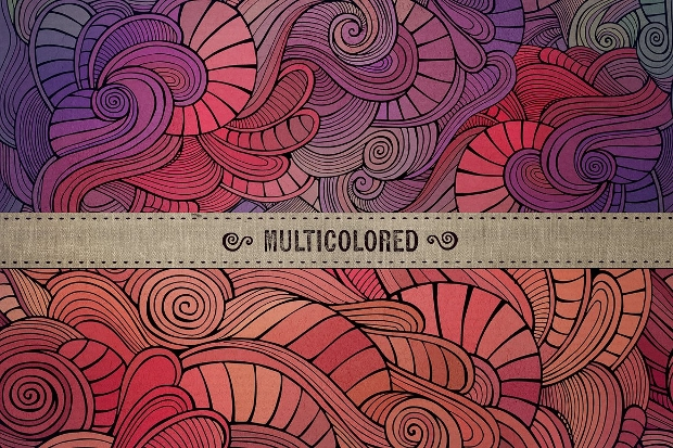 multicolored wave seamless pattern