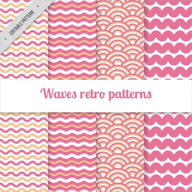 pink color waves pattern1