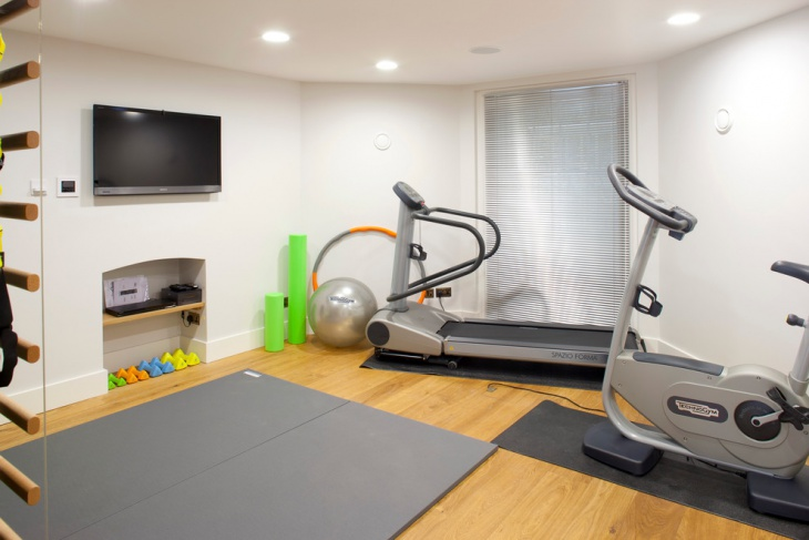 Small Home Gym Decorating Ideas Part - 50: Small Home Gym Decorating Idea
