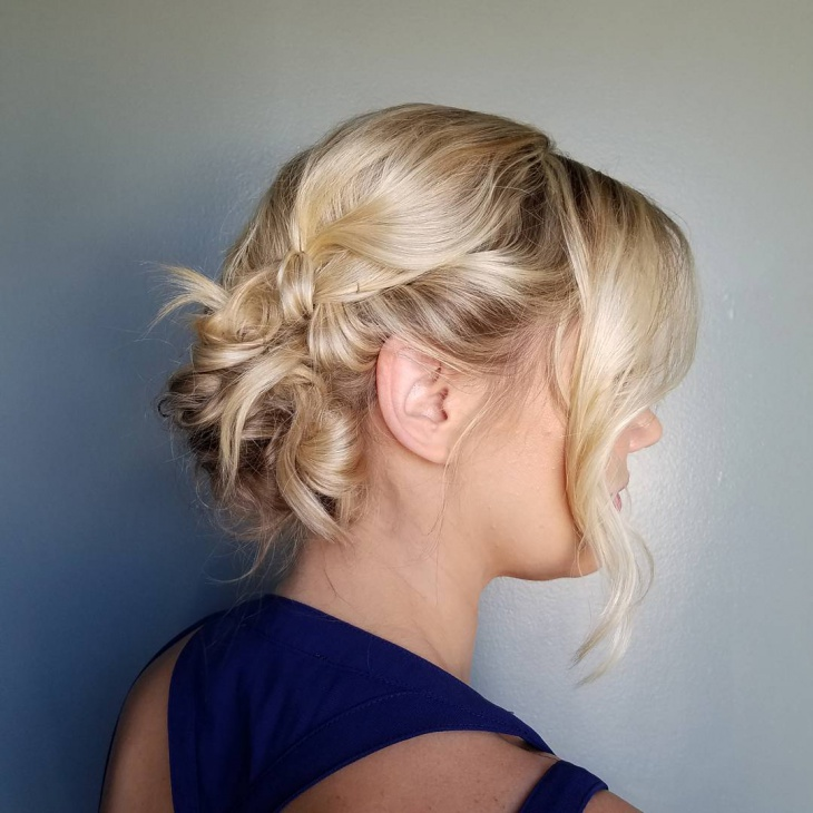 messy updo prom hairstyle