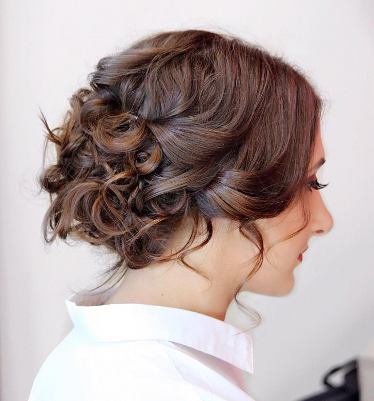 Messy Curly Prom Hairstyle