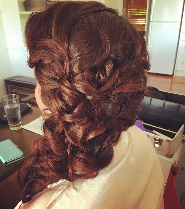 Side Swept Prom Hairstyle