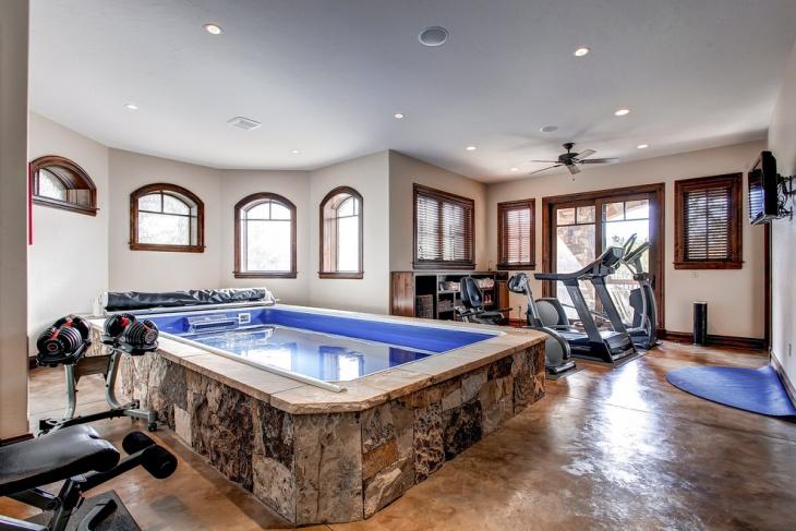 traditional home gym interior design