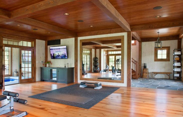 farmhouse gym floor design