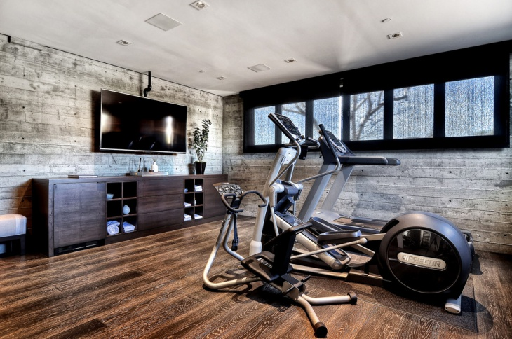 Decorating a home gym in a contemporary style mathwatson