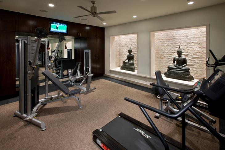 Attractive Contemporary Home Gym Equipment Design Design Ideas