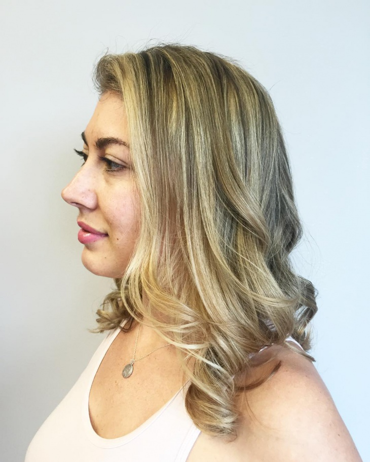 Layered Shoulder Length Prom Haircut
