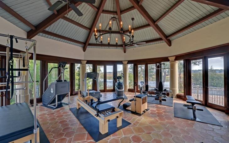 mediterranean gym interior design