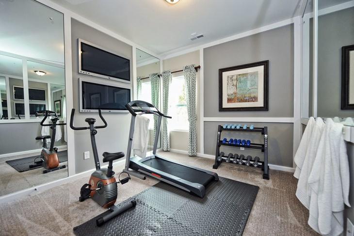 transitional home gym design