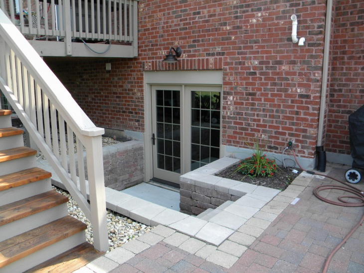 exterior basement entrance idea