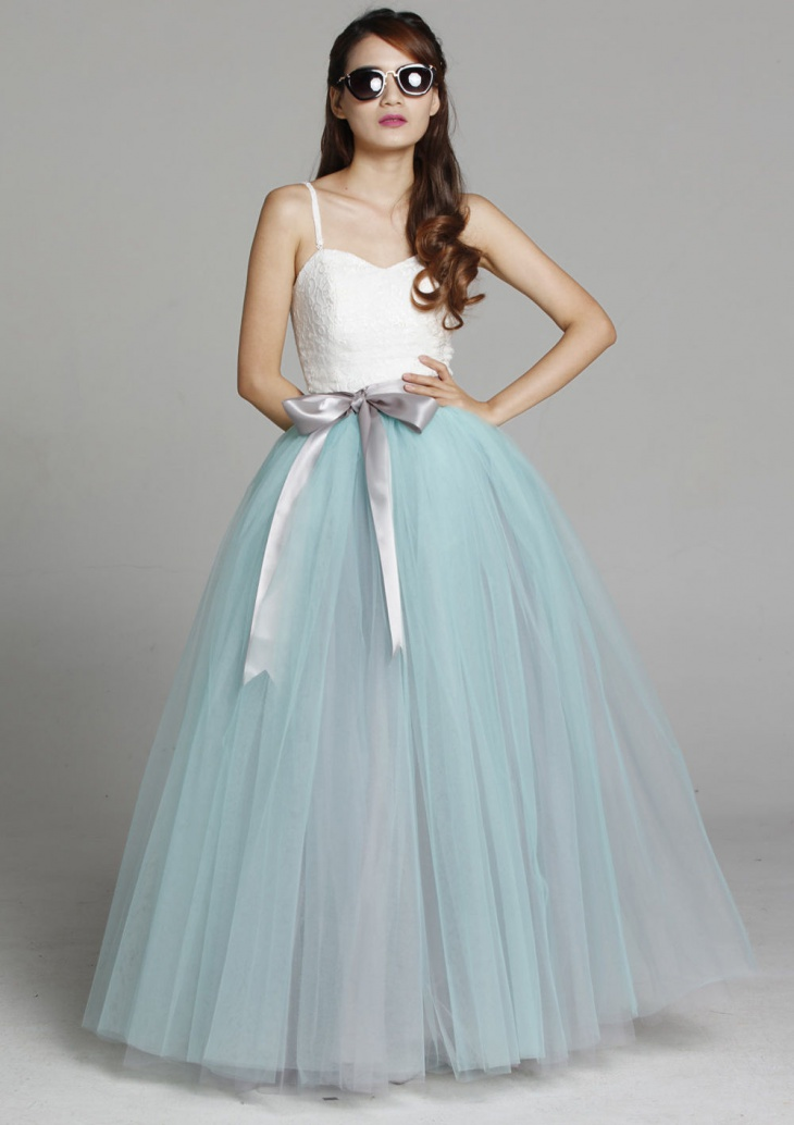 Maxi Tulle Prom Skirt